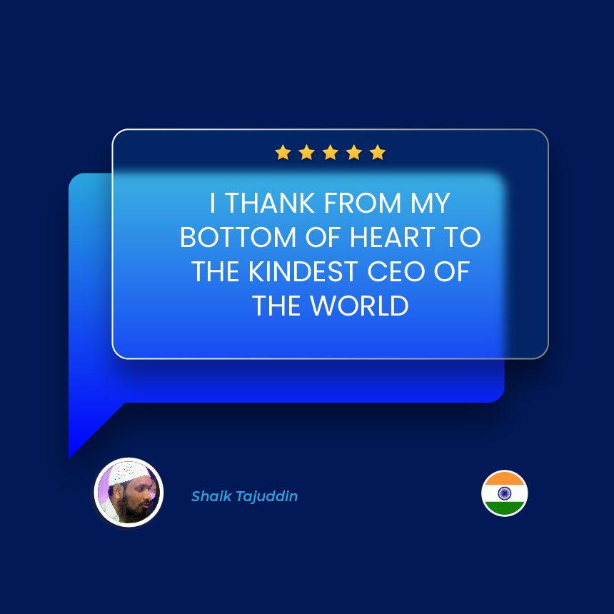 Shaik Tajuddin – India